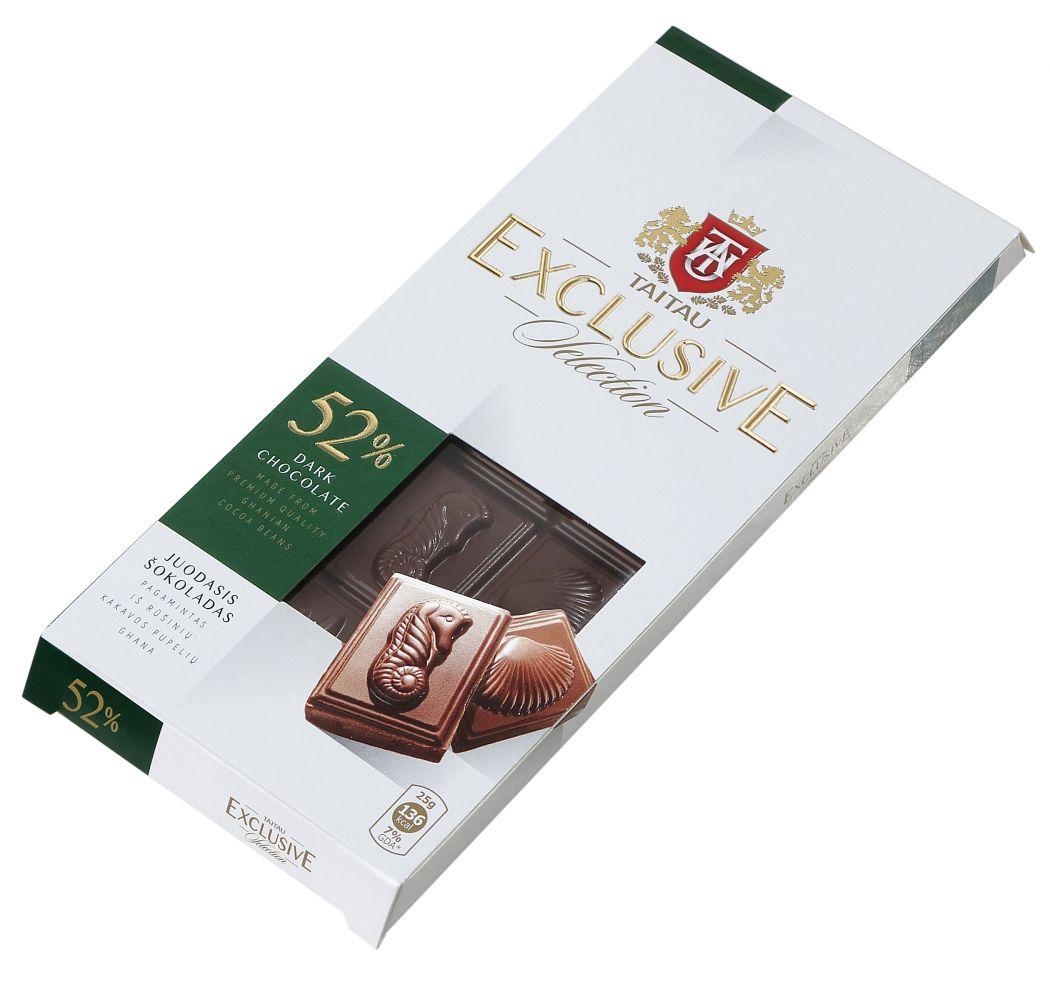Hořká čokoláda 52% 100g - Taitau Exclusive Selection