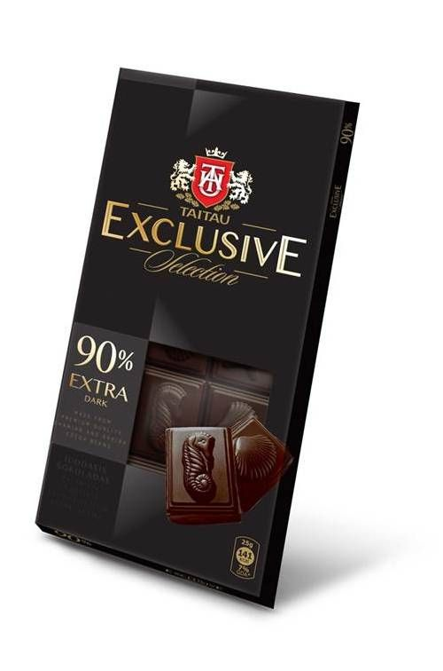 Hořká čokoláda 90% 100g - Taitau Exclusive Selection