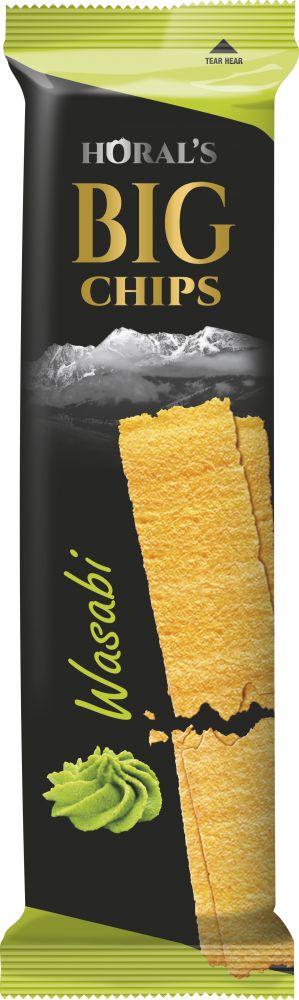 Horal´s Big Chips s příchutí Wasabi 75g